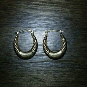 18K gold plated scalloped earrings